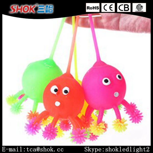 Hot Selling Rubber Flashing Led Lovely Octopus Bouncy Balls China Supplies