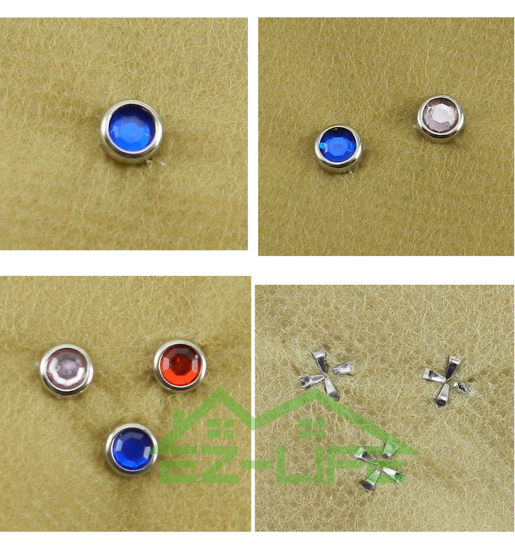 Mini bedazzler clothing nail rivet rhinestones DIY setter tool kit