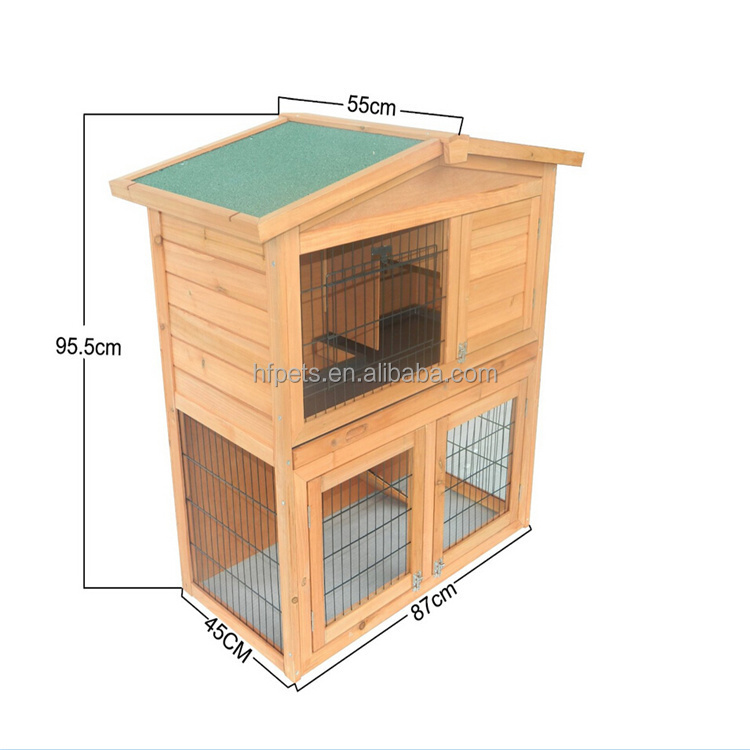 Small Animal House Pet Cage Wooden Rabbit Hutch