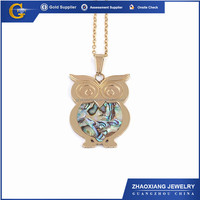 APC0153 Wholesale Animal Owl pendant famous brands manufacturer stainless steel jewelry