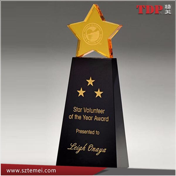 clear and blank acrylic star trophy