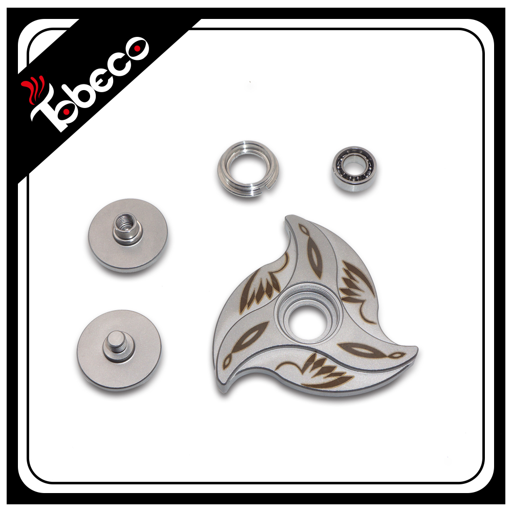 Top sellers tobeco mini style spinner 316 stainless lotis spinner fidget