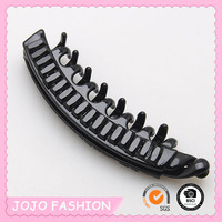 Eco-friendly Simple Large Black Plastic Banana Claw Clip/