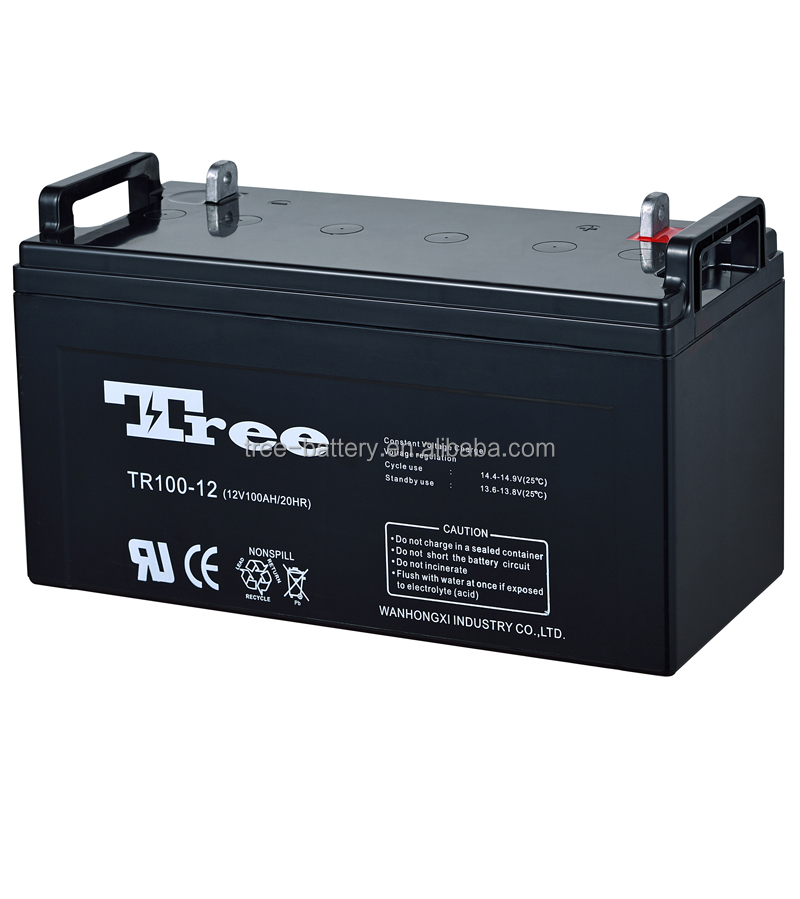 Manufacture Maintenance Free 12V Rechargeable UPS Battery 100AH Deep Cycle Gel Battery for farm machinery