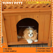Fashion Double Wooden Dog Pet House Kennel For Dog Cat Pets