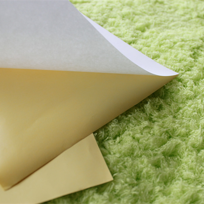 Semi gloss coated self adhesive foil paper laminate cardboard in sheets for label printing