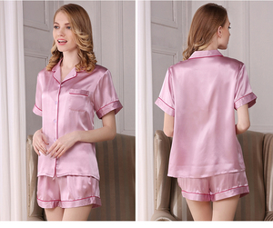 Silk satin Pajamas Shirt and Pant PJ set