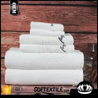 Softextile high quality customized cotton bathroom satin white bath towels