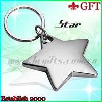 2013 Hot sale promotional item !!Fashion sterling silver keychain,925 sterling silver keychain,star key chain wholesale