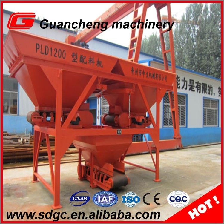 PL1200 automatical concrete batcher for soil cement mixing plant