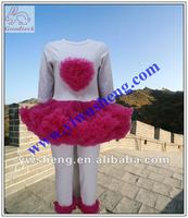 girl's cute and lovely outfits dress with pant sets 2012 new design!