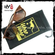 Hot selling printed sunglass pouch/logo printed sunglass drawstring pouch/custom microfiber drawstring bag