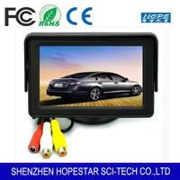 Foldable DVD Reverse Backup Camera 4.3 inch TFT LCD Rearview Monitor