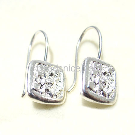 Beadsnice Diy 925 silver <strong>jewelry</strong> wholesale of 100% handmade hook earrings 10mm length 21.0mm