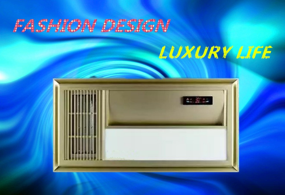 mini ceramic bathroom heater with fan lamp