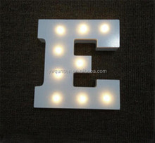 OEM MDF craft 3d letter alphabet LED wedding wooden christmas letters