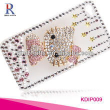 Factory Supply Bling Leather Flip Case For Samsung Galaxy Note 2