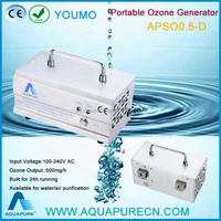 2016 newest CE high quality for water sterilization 500mg/h ozone generator mini
