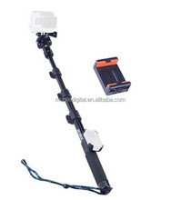 Smatree SmaPole Y1 Telescopic Handheld Selfie Pole / Monopod + Tripod Mount + WiFi Remote ClipCase for Go Pro and Phone