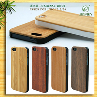 wooden case for iphone 5/custom bamboo wood cover for iphone 5s/bulk phone cases
