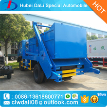 8-10cbm swing arm garbage truck,skip loader truck,arm roll container refuse truck