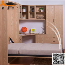 solid teak wood living room furniture hidden kids wall bed murphy bed folding wall bed