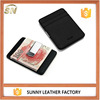 Fancy Slim Pocket Case Genuine Leather Wallets Credit Card Holder With Metal Clip