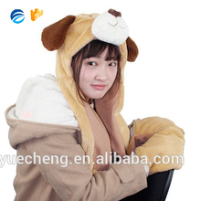 Custom Made Earflap Adult Winter Animal Hats with Gloves