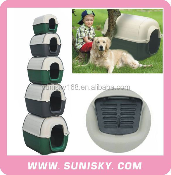 outdoor dog house plastic kennel