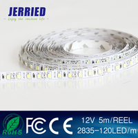 DC12v smd 2835 9w/m led strip light 120leds IP20 IP65 with CE ROHS