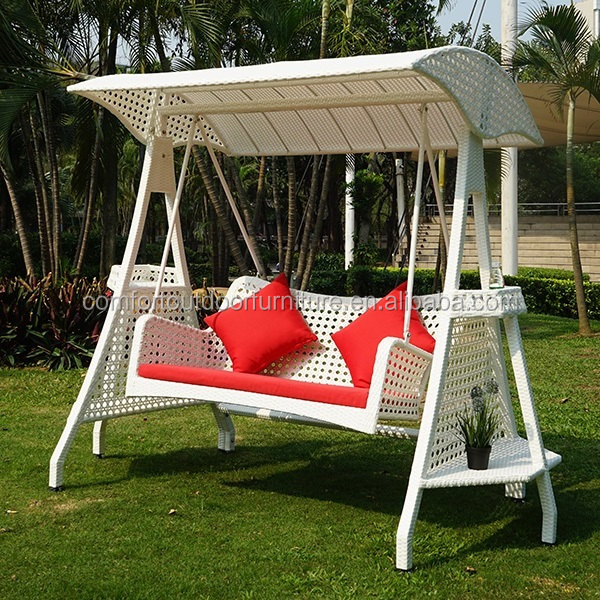 Patio Synthetic <strong>Rattan</strong> Swing with two seats