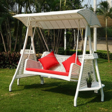Patio Synthetic Rattan Swing with two seats