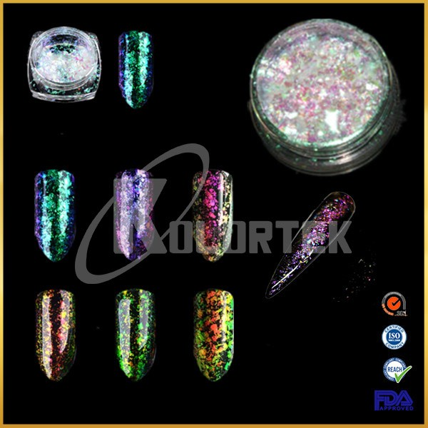 Clear Transparent Chameleon iridescent Chrome Flakes