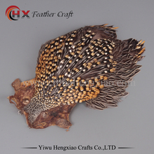 Factory Wholesale in Stock Top Grade Natural Gold Jungle Cock Cape Complete Pelt with Feathers