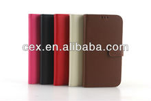 Luxury PU Flip Leather Case Cover For Samsung Galaxy S4