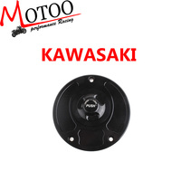 Motoo - Motorcycle New CNC Aluminum Fuel Gas CAPS Tank Cap tanks Cover With Rapid Locking For Kawasaki ZX-6R ZX-10R ZX-14R
