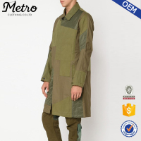 OEM promotional winter patchwork midi new coat designs for men