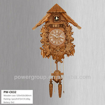 Cuckoo bird sound wall clock with bird cage nature clock with greek numerals exquisite - Cuckoo bird clock sound ...