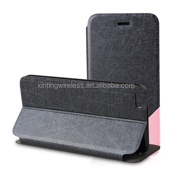 2014 new product leather case with stand for iphone6, phone case for iphone6