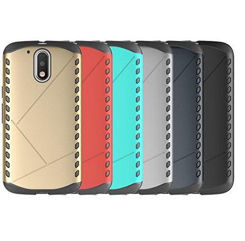 Hot-sale product hybrid 2 in1 shockproof armor case back cover for moto g4 plus