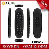 SOYEER 2.4Ghz wireless mini keyboard Gyroscope air mouse C120 T10 fly mouse T10 C120 air mouse original factory