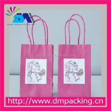 Pink Kraft Paper Bag with Elephant