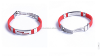 new products on china market stainless steel silicone id bracelet with logo