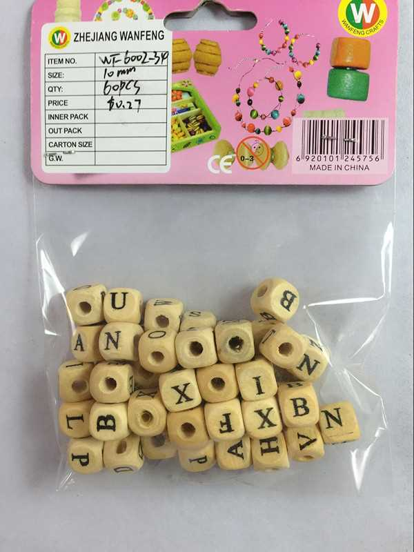 Wanfeng hot sales wooden beads for china rose beads religious crafts
