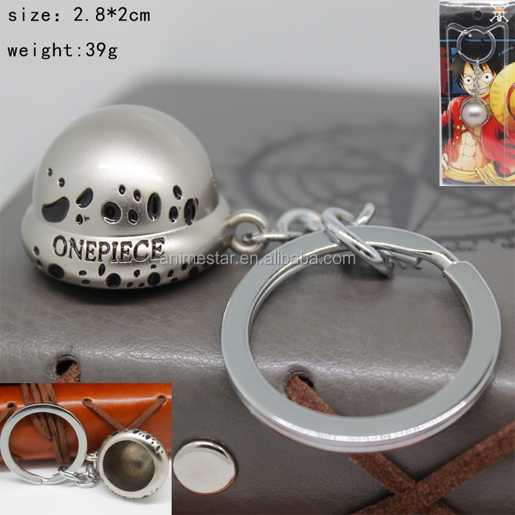 New Design Decorative Hanging One Piece Cosplay Cap Anime Keychain Pendant