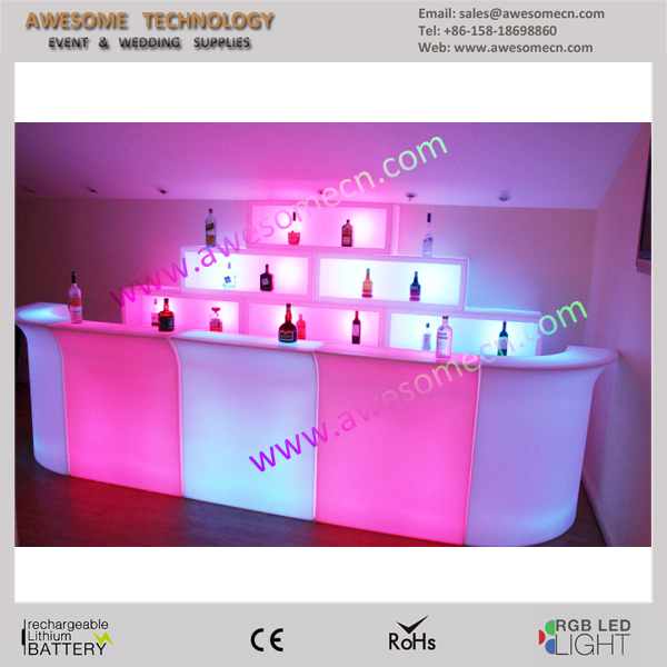 portable Outdoor led bar display / barr display cases / outdoor led back bars