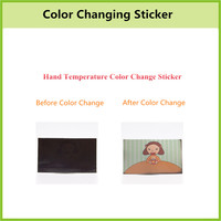 Reusable Custom Heat Sensitive Color Changing Sticker