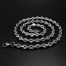 "Wholesale!!!2016 NEW Unisex Stainless Steel Jewelry Pendant Necklace Polishing ""O"" Type Chain Necklace Accessories MOONSO KX2642"