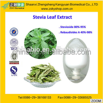 GMP supply natural high quality Stevia Plant Extract---Stevioside,