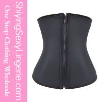 hot sexi photo image 4 Steel Boned Rubber Waist Trainer corset